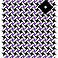 Optical Illusion Purple Black Flag 4. by Nancy Mergybrower