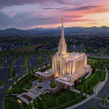Oquirrh Mountain Temple by Dustin LeFevre