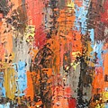 Orange Abstract by Elizabeth Langreiter