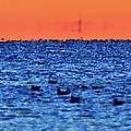 Orange And Blue Morning 4  by Lyle Crump