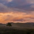 Orange And Purple Cloud Landscape by Sharon Foelz