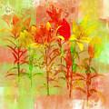 Orange And Yellow Lilies by Judi Suni Hall