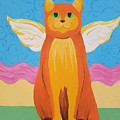 Orange Angel Cat by Johnny McNabb