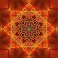 Orange Autumn Mandala by Judi Suni Hall