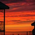 Orange Balcony Sunset by Bob Slitzan