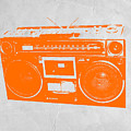 Orange Boombox by Naxart Studio