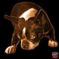 Orange Boston Terrier Art - 8384 - Bb by James Ahn