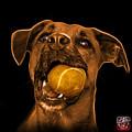 Orange Boxer Mix Dog Art - 8173 - Bb by James Ahn
