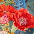 Orange Cactus Flowers by Deane Locke