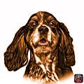 Orange Cocker Spaniel Pop Art - 8249 - Wb by James Ahn