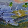 Orange Creek At Sunrise by Warren Thompson