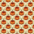 Orange Curvy Autumn Pumpkin Pattern by MM Anderson