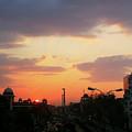 Orange Evening Sky by Atullya N Srivastava
