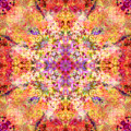 Orange Flower Mandala by Susan Bloom