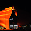 Orange Fountain Downtown Los Angeles by Clayton Bruster