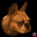 Orange French Bulldog Pop Art - 0755 Bb by James Ahn
