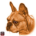 Orange French Bulldog Pop Art - 0755 Wb by James Ahn
