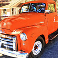 Orange Gmc Pickup Truck In Idyllwild by John Castell