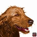 Orange Golden Retriever Dog Art- 5421 - Wb by James Ahn