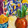 Orange Iris by Julie Kerns Schaper - Printscapes