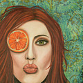 Orange Kiss by Leah Saulnier The Painting Maniac
