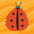 Orange Ladybug Masked As Autumn Leaf by Boriana Giormova