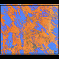 Orange On Blue by JOnezi
