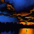 Orange On Blue by Lyle  Huisken