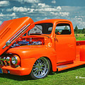 Orange Pick Up At The Car Show by Randy Harris
