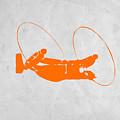 Orange Plane by Naxart Studio