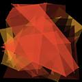 Orange Polygon Pattern by Frank Ramspott