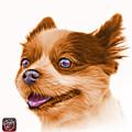Orange Pomeranian Dog Art 4584 - Wb by James Ahn