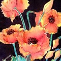 Orange Poppies by Francine Dufour Jones