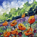 Orange Poppies by Richard T Pranke