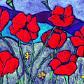 Orange  Red Poppies by Wayne Potrafka