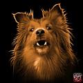 Orange Sheltie Dog Art 0207 - Bb by James Ahn