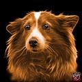 Orange Shetland Sheepdog Dog Art 9973 - Bb by James Ahn
