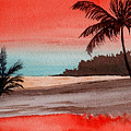 Orange Sky Of Kauai by Brenda Owen