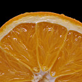 Orange Sunrise On Black by Laura Mountainspring