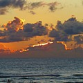 Orange Sunset Oregon by Ryan Crandall