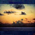 Orange Sunset Over Ocean by Marty Malliton