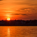 Orange Sunset Sky Island Heights Nj by Terry DeLuco