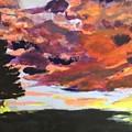 Orange Sunset Spectator by Nicole Poirier