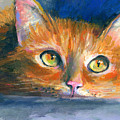 Orange Tubby Cat Painting by Svetlana Novikova