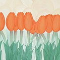 Orange Tulipans by Marinella Owens