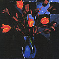 Orange Tulips by Arline Wagner