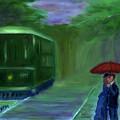 Orange Umbrella- I by David McGhee