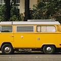 Orange Vw Bus by Kyle Morris