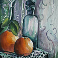 Oranges With Blue Bottle by Aleksandra Buha
