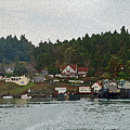Orcas Island Dock Digital by Carol  Eliassen
